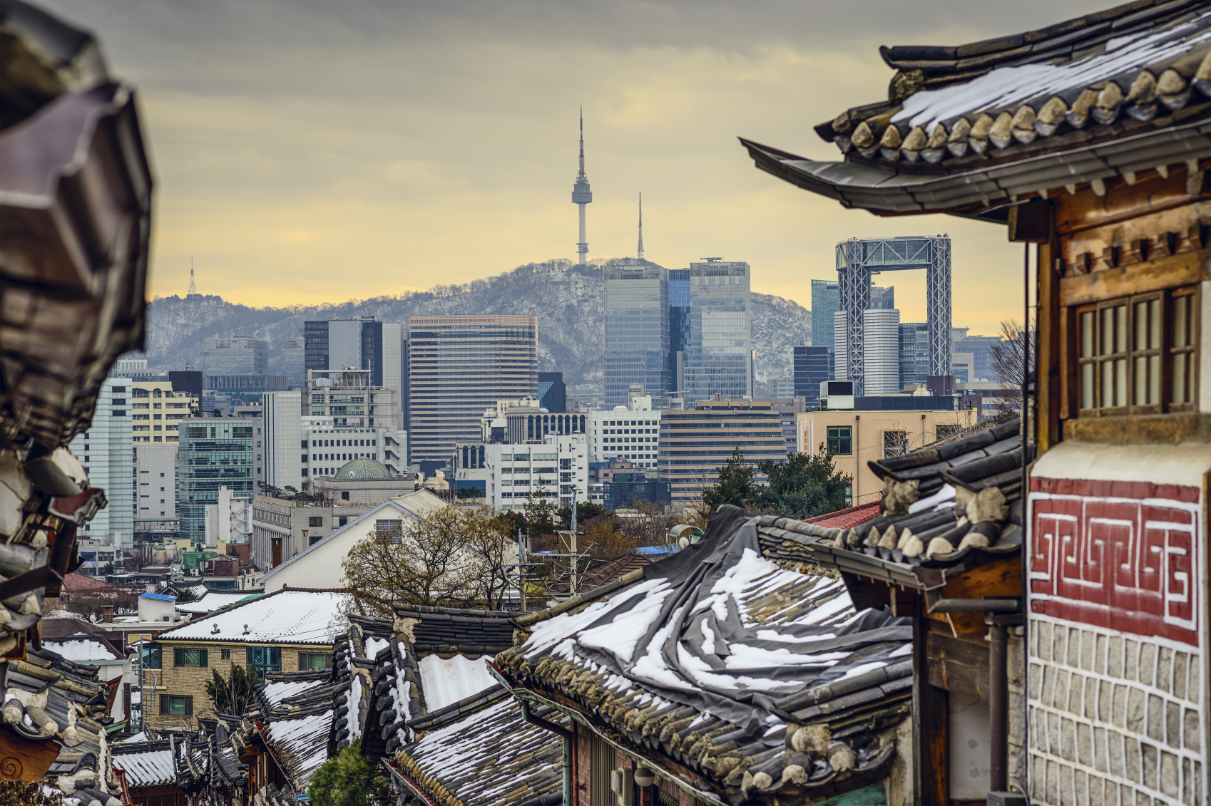 Seoul - South Korea Historic District and Skyline